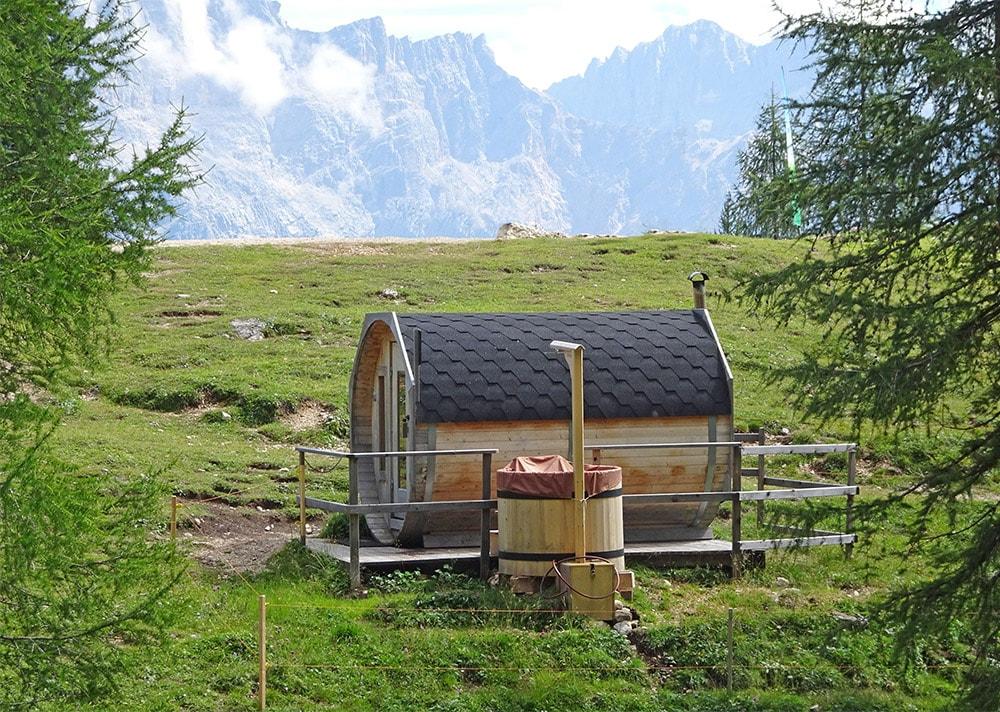 Mountain hut sauna